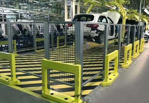 汽车生产线安全围栏